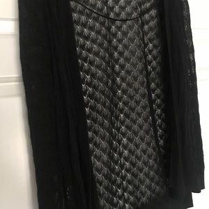 Black meshed cardigan